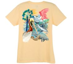 """Guy Harvey's gulf mammals t-shirt. I usually don't go for """"trendy"""" stuff, but this is the first shirt (of theirs) I've noticed with Florida-ish plants and animals. Love it!"""
