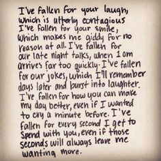 Just a few of the numerous reasons I have fallen for you my forever love...♡