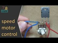 Speed motor control | Simple speed motor controller circuit, use 1 transistor - YouTube