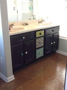 Jennifer S Crafty Corner Refinished Bathroom Vanity Cabinet