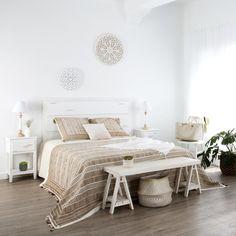 IMURIS CABEZAL 150/160 Estilo Shabby Chic, Colorful Decor, Ideas Para, Interior Decorating, Bedroom Ideas, Furniture, Places, Home Decor, Ideas