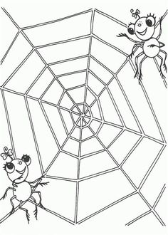 Spider Web Coloring Page - 28 Spider Web Coloring Page , Free Printable Halloween Spider Coloring Page for Kids 1 Spider Coloring Page, Frog Coloring Pages, Dragon Coloring Page, Coloring Pages For Kids, Coloring Sheets, Kids Coloring, Spider Web Drawing, Rabbit Colors, Toothless Dragon
