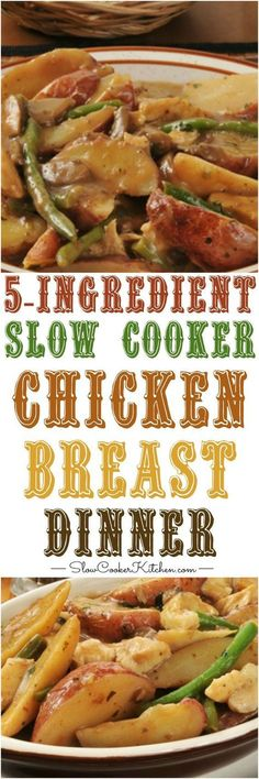 5 ingredient slow cooker chicken dinner