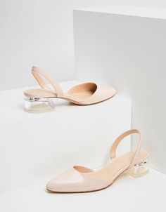 1942a584434d0 Shoes with methacrylate heels - Flats - Bershka United States