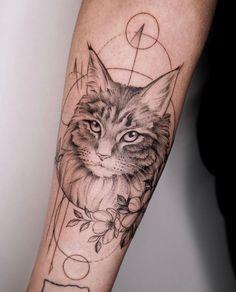 - Tatuaje de retrato de mascota de gato – tatuaje – amor – # Tatuaje de retrato de mascota de g - Cat Portrait Tattoos, Cat Paw Tattoos, Animal Tattoos, Cute Tattoos, Body Art Tattoos, Print Tattoos, Sleeve Tattoos, Cat Paw Print Tattoo, Tattoo Liebe