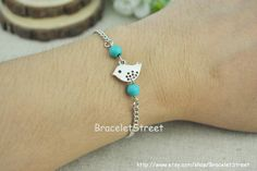 Fashion silver bird charm bracelet  chain by BraceletStreet, $1.99