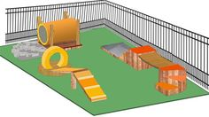 See Wrangler's plaza play space — and learn how to create your own 'Property Brothers' share how to create a dog park in your backyard Dog Backyard, Backyard Playground, Backyard Ideas, Playground Ideas, Puppy Playground, Dog Spaces, Dog Yard, Property Brothers, Dog Runs