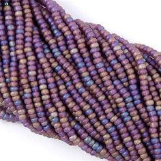 Czech Seed Bead Matte Amethyst AB 1/2 Hank 8/0 8-21060M