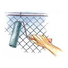 Illustration by Narda Lebo   thisoldhouse.com   from Painting Chain-Link