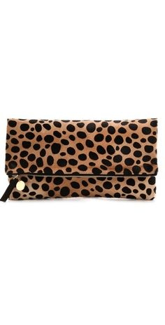 CLARE VIVIER Haircalf Fold Over Clutch // another great fall staple