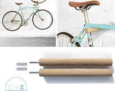 Items similar to Wooden bike shelf from Europe - dark walnut colour on Etsy Bicycle Hanger, Wall Mount Bike Rack, Bike Hooks, Bike Shelf, Bicycle Helmet, Indoor Bike Storage, Bicycle Storage, Bike Storage On Wall, Wood Bike Rack