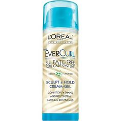 EverCurl Sculpt & Hold Curl Cream Gel with coconut oil by L'Oréal Paris. Curl cream that conditions, hydrates curls & works as a styling gel that shapes curls. Curly Hair Tips, Curly Hair Care, Curly Hair Styles, Natural Hair Styles, Curly Girl, Hair Dos, Wavy Hair, Aveda Be Curly, Body Hacks