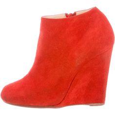 Women's Shoes Dashing Brian Atwood Rouge Nubuck Daim Stella Talon Haut Sandales Revers Cheville Clothing, Shoes & Accessories