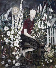 Hernan Bas, Albino in a moonlight garden