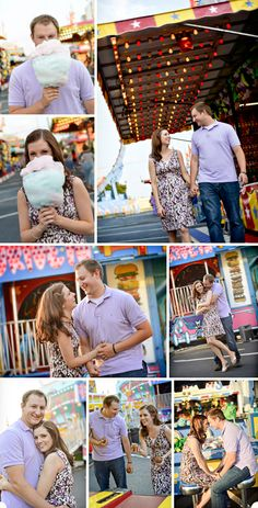 a Madison, AL police dept. fundraising carnival creates the perfect backdrop for Michelle & David's engagement shoot!