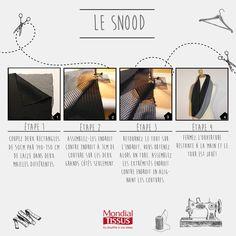 Snood Mondial Tissus | Retrouvez les astuces de notre styliste Norma juste ici : https://www.facebook.com/MONDIAL-TISSUS-353580159159/
