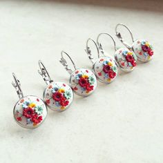 Fresh Colorful Summer Small Earrings by DZHandmadeProducts on Etsy, $22.20