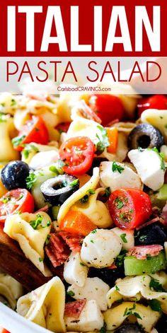 BEST Italian Pasta Salad with Tortellini!