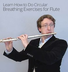 Have you ever started to run out of air while playing a difficult music passage on the flute? Learn to breathe in while playing with circular breathing! Flute Sheet Music, Piano Music, Vocal Exercises, Finger Exercises, World Music, Music Is Life, Sound Of Music, My Music, Flute Instrument
