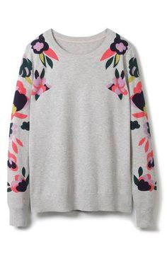 Main Image - Boden Print Cotton Sweater