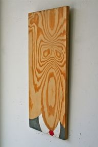 WoodFaceArt- I've always seen faces in wood patterns.... I'm glad I'm not the only one...