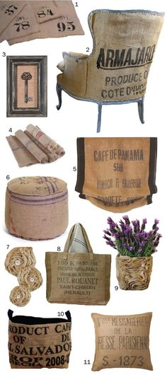 ideas for burlap