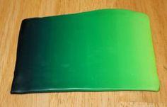 Polymer clay emerald green blend