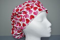 Items similar to Bouffant Scrub Hat - Simple Hearts on Etsy Scrub Hats, Scrubs, My Etsy Shop, Hearts, Simple, Fashion, Moda, La Mode, Fasion