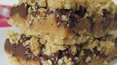 Passion Bars - Oatmeal bars with a caramel flavored peanut butter topping.