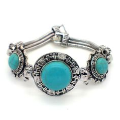 Turquoise Bracelets: These bracelets are usually made of a single gemstone that is particularly in the colours turquoise, blue or emerald green.