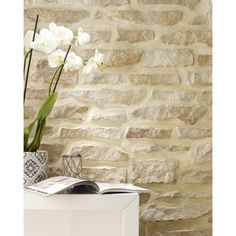 Siding Stone Wallpaper With Exceptional Brick Wallpaper Leroy Merlin Wallpaper Idees And With Source by Fake Stone Wall, Stone Walls, Bathroom Interior Design, Interior Decorating, Wall Cladding Tiles, Casa Loft, Stone Siding, Stone Wallpaper, Bungalow House Design