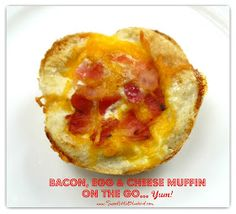 Sweet Little Bluebird: Bacon, Egg & Cheese Muffins On The Go...