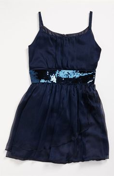 d6b144449 Z by Zoe Sequin Dress (Big Girls) available at Nordstrom Girls Navy Dress,