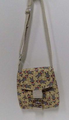 Small Messenger Bag - sock monkey - crossover purse