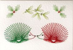 Christmas hedgehogs Stitching cards!