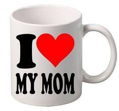 Coffee Mug I Love My Mom Coffee Tea Cup Mug Gift Home Office Gift Christmas #mug #coffee