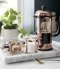 Bodum ® Chambord Copper 34 Ounce French Press - Crate and Barrel Wedding Registry