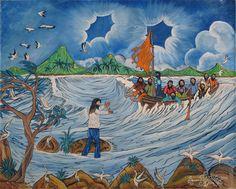 Love this contextualized piece. South American Art, Handicraft, Folk Art, Indigo, Art Gallery, Painting, Monuments, Art, Craft