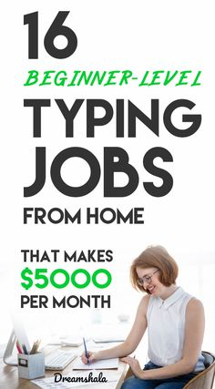 16 beginner-level typing jobs from home. 16 beginner-level typing jobs from home. Ways To Earn Money, Earn Money From Home, Way To Make Money, Make Money Online, Best Online Jobs, Online Jobs From Home, Best Jobs, Start A Business From Home, Home Based Business