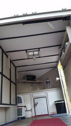 Cargo Trailer Camper Conversion, Cargo Trailers, Track Lighting, Tiny House, Shed, Home Appliances, Ceiling Lights, Drop, Toys