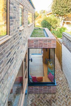 Leytonstone House – refurbishment and side extension by Bradley Van der Straeten House Extension Design, House Design, Side Extension, Brick Extension, Extension Ideas, Sedum Roof, Glazed Brick, Corner House, Property Design