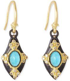 Armenta Petite Shield Drop Earrings on shopstyle.com
