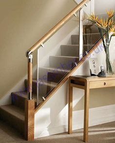 glass and wood staircase - Google Search