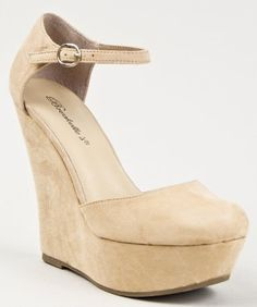 Amazon.com: Breckelle's Cilo-21 Women Closed Round Toe High Platform Ankle Strap Wedge Heel Sandal: Shoes