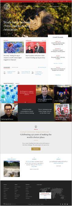 Cornell University #webdesign