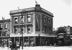 The clapton park tavern, known locally as the black house Glen Brandon and his family used to live there we practised our band in their cellar. Old London, London Pubs, Vintage London, London Street, East London, London History, British History, Park Tavern, Greater London