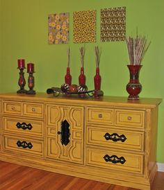 Yellow Distressed Dresser by AquaXpressions on Etsy, $450.00