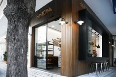 Studioprototype Architects have designed the Elektra Bakery in Edessa, Greece.