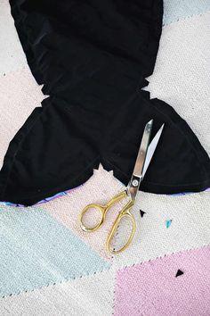 Mother + Daughter Mermaid Costume DIY - A Beautiful Mess Toddler Mermaid Costumes, Mermaid Dress Costume, My First Halloween, Halloween Season, Mother Daughter Costumes, Diy Costumes, Halloween Costumes, Mermaid Shell, How To Make Skirt