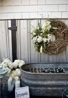 Horse Trough, perfect for cold drinks!